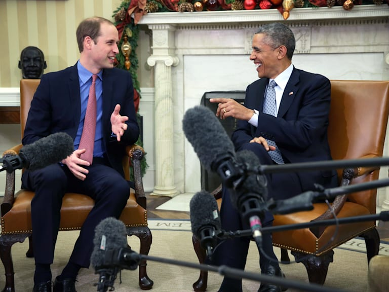 The Duke Of Cambridge Meets With U.S. President Barack Obama