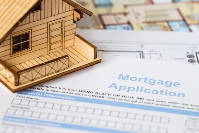house mortgage application with ...