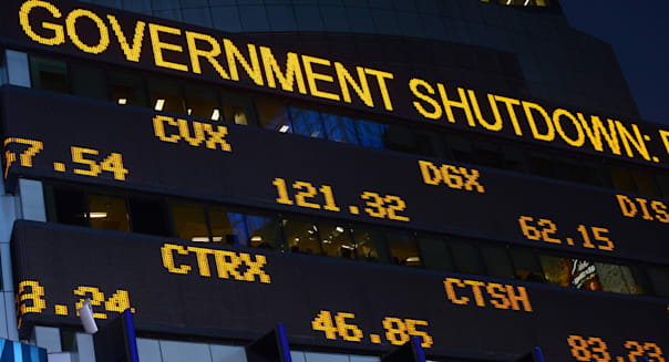 wall street after US government shutdown