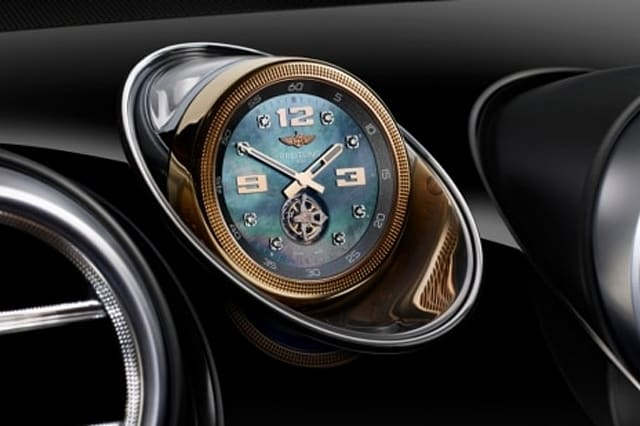 Bentley buyers have the option of this diamond-encrusted clock