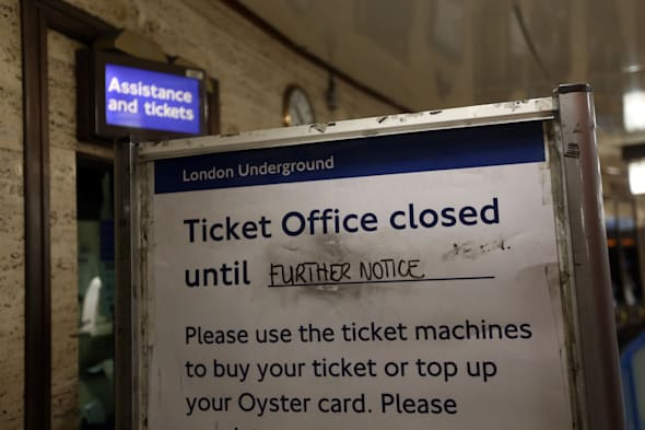 Tube ticket offices set to close