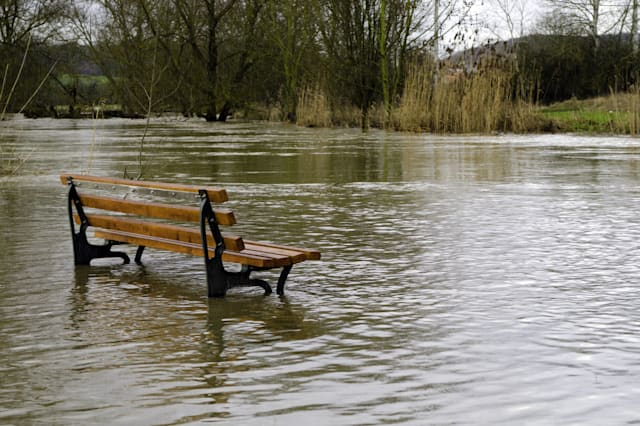a bench surrounded by NEW FLOOD INSURANCE SCHEME