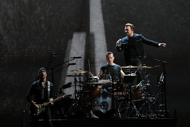 U2 plays at the Rogers Centre in Toronto on June 23,