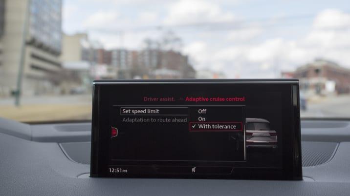 Audi Q7 adaptive cruise control settings