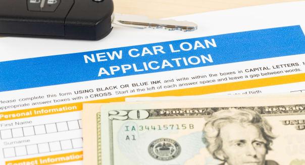 car loan application with car...