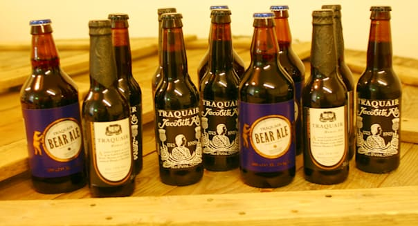 Bottles of beer from a micro brewery