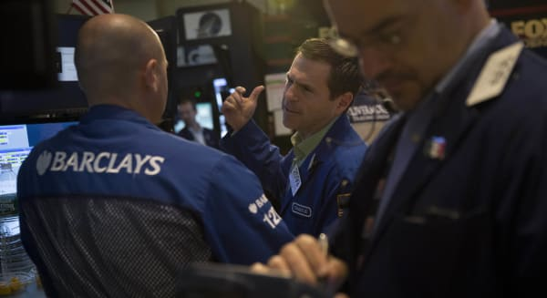 new york stock exchange traders wall street microsoft google technology earnings