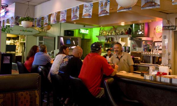 Side Street Inn neighborhood bar on Hopaka Street.