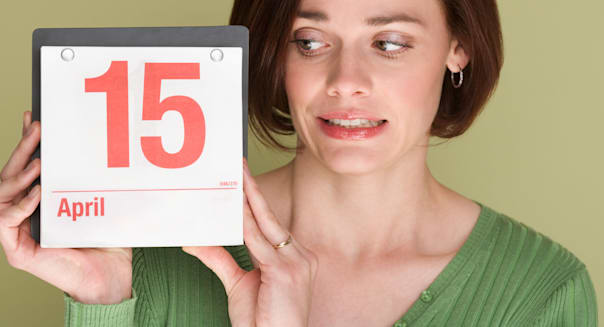 Woman worried about tax deadline