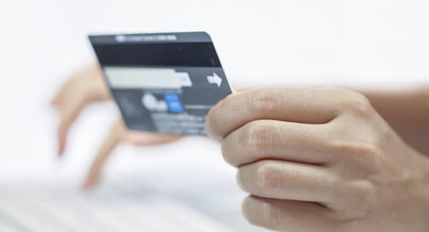 Using a credit card.