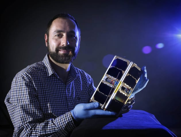 Deputy director of ACSER, Elias Aboutanios, has high hopes for the UNSW-EC0 cubesat he helped