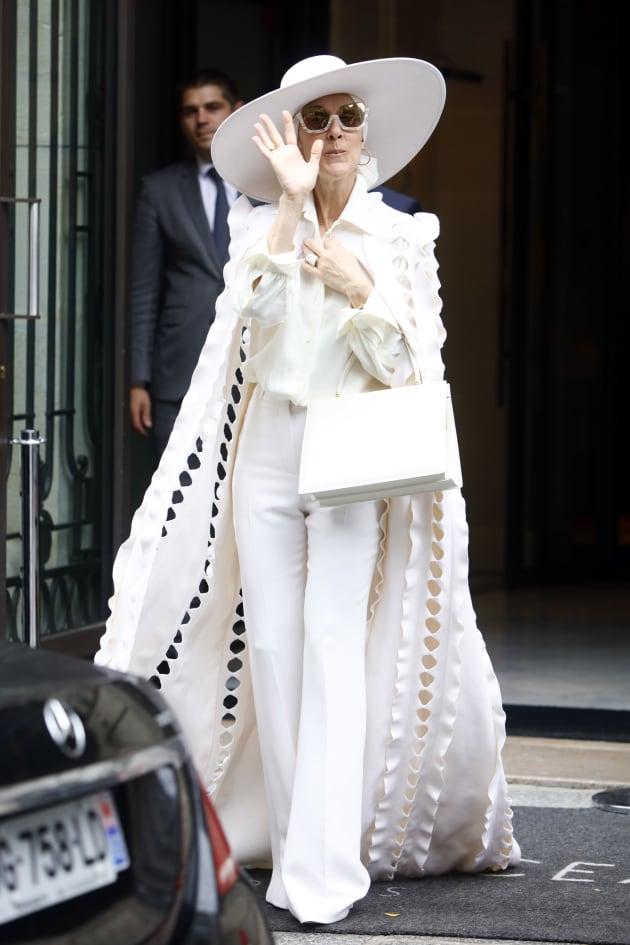 Celine Dion leaves her hotel in Paris, France, on July 12, 2017. (Photo by Mehdi Taamallah/NurPhoto via...