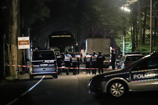 The explosion detonated as the bus was leaving the Borussia Dortmund team hotel One player, Marc Bartra,...
