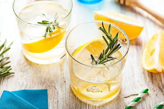 Rosemary lemonade cold cocktail drink