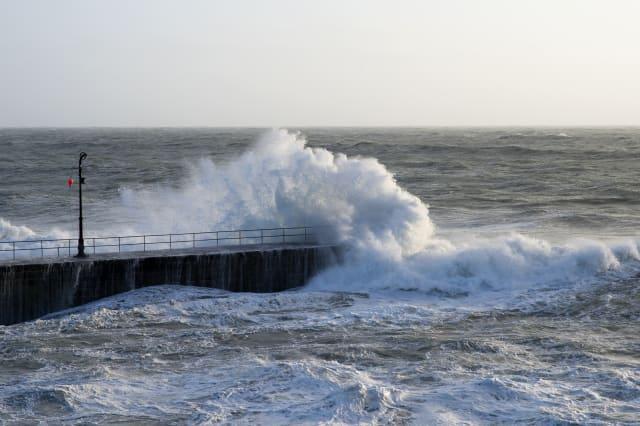 Storm Imogen Hits Cornwall, England