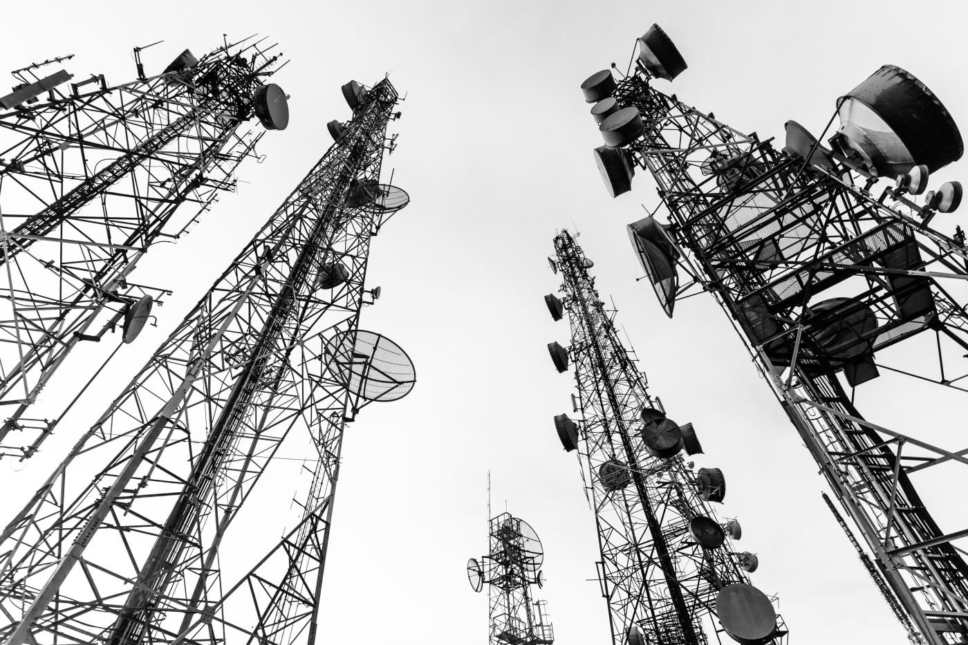 telecommunication tower black...