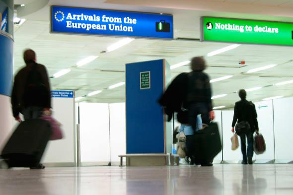 Customs at a UK airport