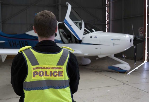 Two aircraft, including this light plane, were among the luxury goods police