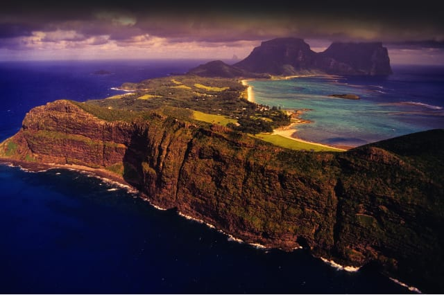 Arial view of Lord Howe Island