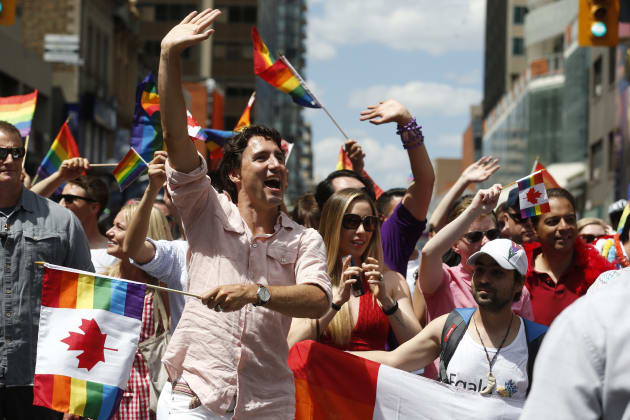 PM Justin Trudeau walked in Toronto's Pride Parade on July 3, 2016, the first sitting PM to do so. He...