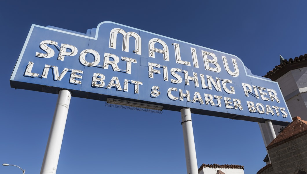 Malibu Pier Sign
