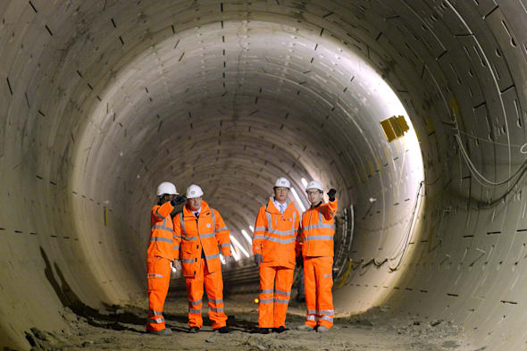David Cameron And Boris Johnson Visit Cross Rail Tunnels