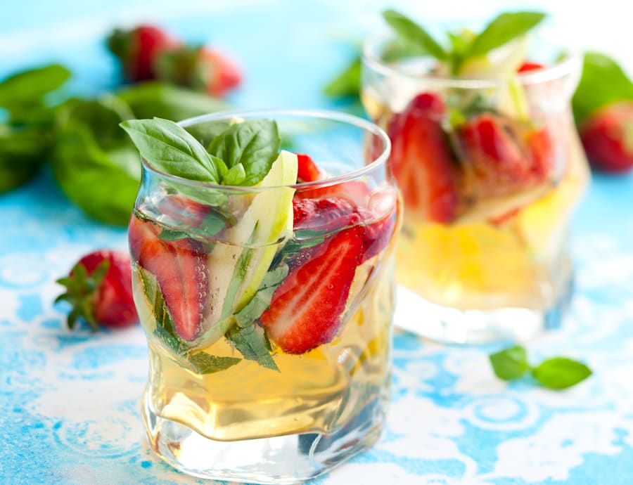 Garnish with basil for extra colour and