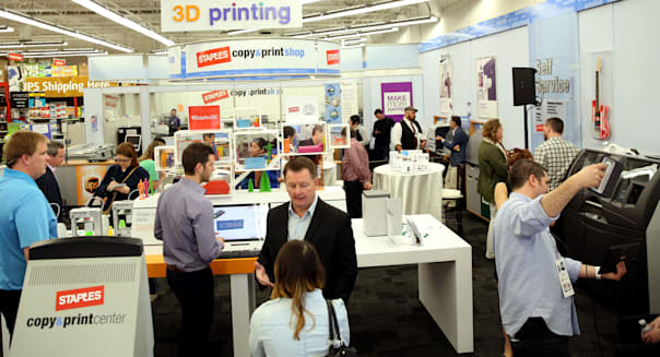 Staples Launch of 3D Printing in Los Angeles
