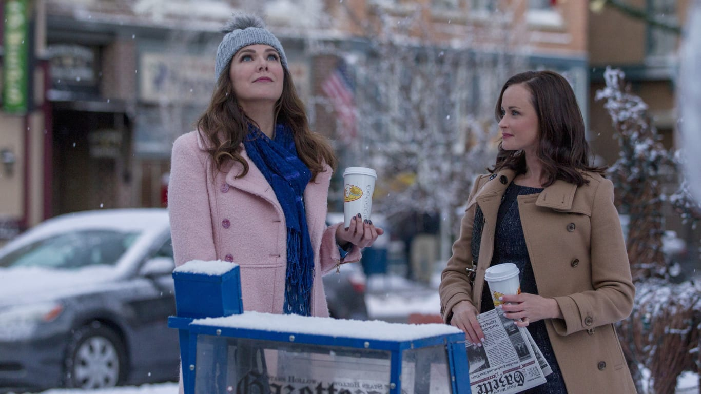 gilmore girls, a year in the life, luke, lorelai, rory, photos