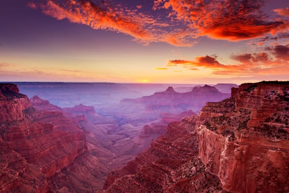 Cape Royal Viewpoint at Sunset North Rim of the Grand Canyon National Park, Arizona, USA United States of America