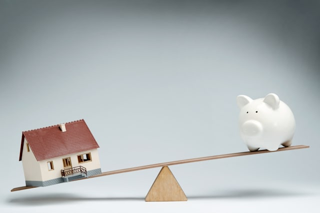 home loans market. model house...