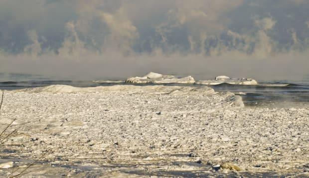 Arctic Blast on Lake Michigan