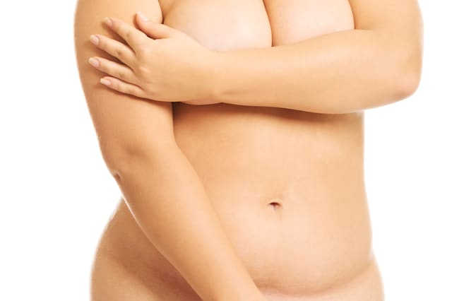 undressed overweight woman...
