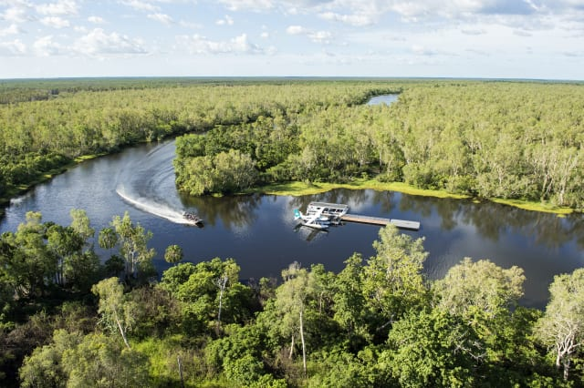 Aerial view of Outback Floatplane Adventures' location