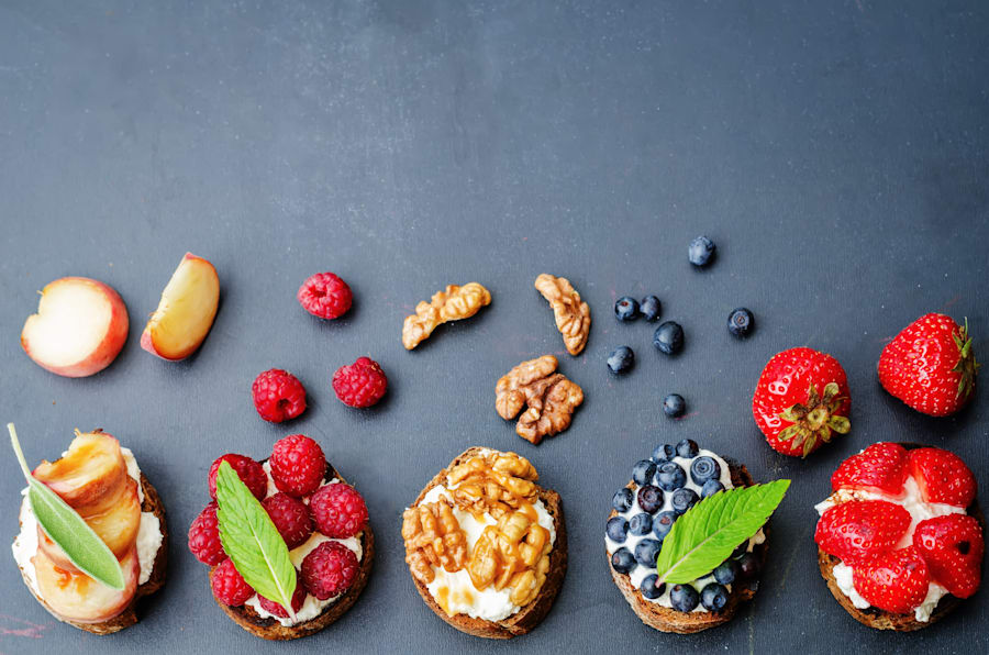 Make your toast count with the addition of fruit, ricotta, nut butters and