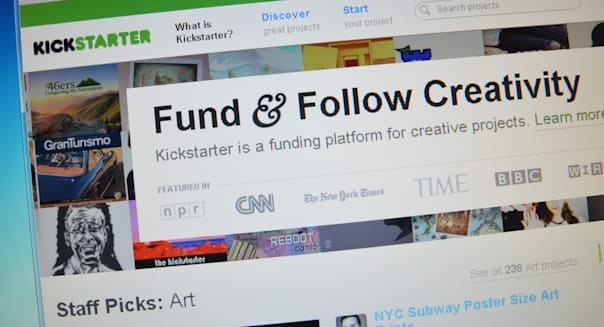 Kickstarter.com website screenshot