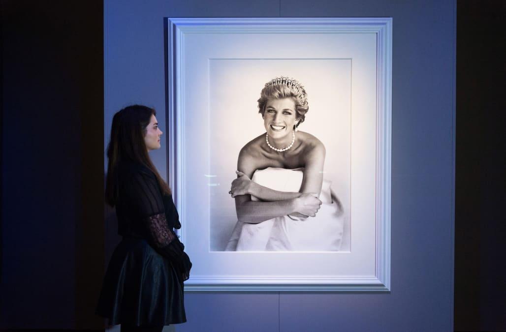 Princess Diana, Hair by Sam McKnight, for vogue