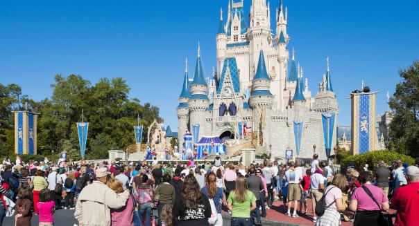 Cinderella Castle, Magic Kingdom, Walt Disney World Resort, Lake Buena Vista, Orlando, Florida, USA