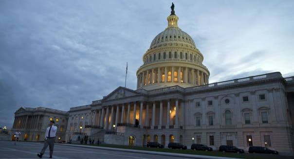 Budget Battle (A view of the U.S. Capitol building on Tuesday, Oct. 15, 2013 in Washington. The partial government shutdown is i