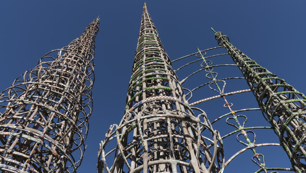 Part of Watts Towers, a collection of structures and art in the low-income Watts section of Los Ange