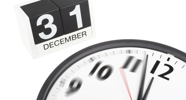 Countdown to Midnight 12 O'Clock New Year's Eve December 31