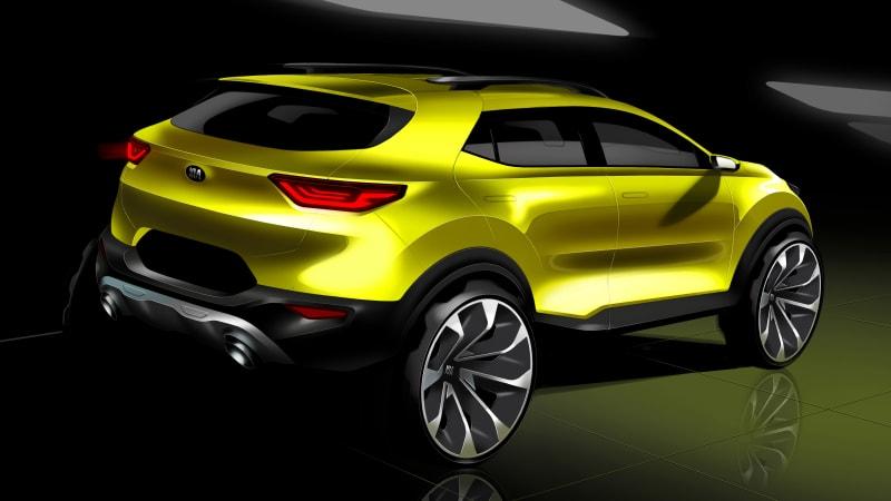Kia Stonic rear 3/4 rendering