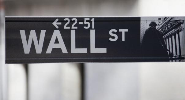 Wall Street sign, Manhattan, New York City, New York, United States