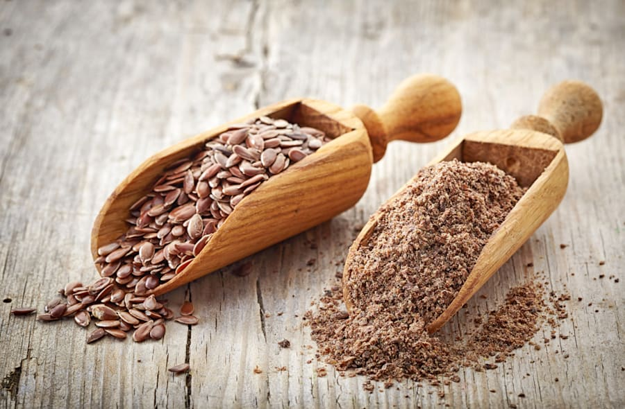 Flaxseeds, flaxseed oil, walnuts and chia seeds are other good sources of omega