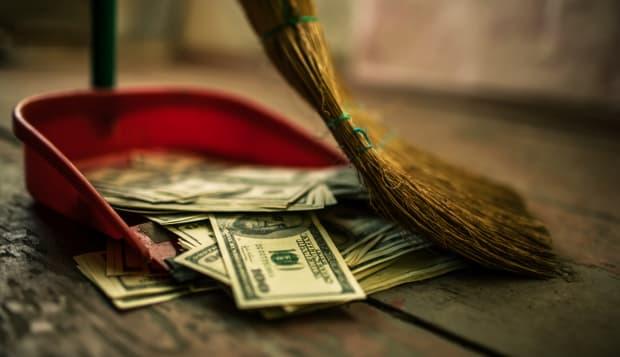 money as garbage