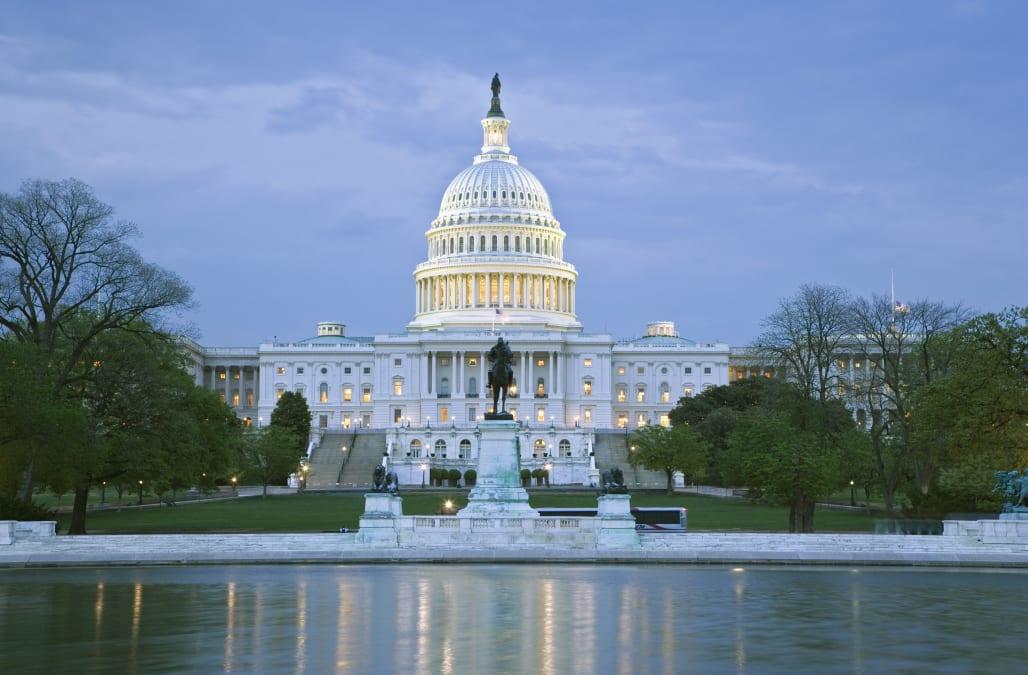 USA, Washington DC, Capitol building at dusk