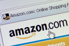 B4TM9Y Macro screenshot of the Amazon online shopping website (Editorial use only).. Image shot 2008. Exact date unknown.