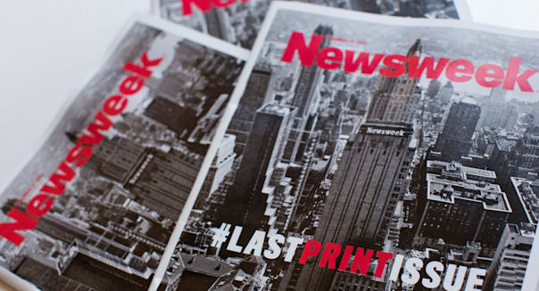 The final print edition of Newsweek magazine.