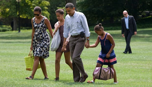 President Barack Obama and family.
