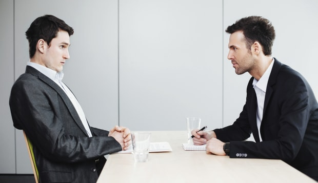 HR manager and an applicant in a job interview